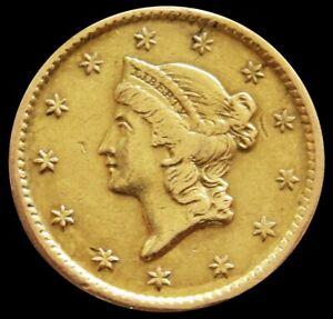 1851 GOLD UNITED STATES LIBERTY HEAD $1 DOLLAR TYPE 1 *SOLDER