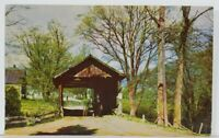 Waitsfield VT Historic Covered Bridge Postcard N7