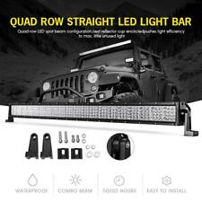7D 42 INCH 2400W  LED LIGHT BAR Quad ROW COMBO OFFROAD SUV DRIVING CAR UTE 50""