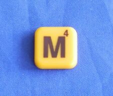 Words With Friends Letter M Tile Replacement Magnet Game Part Piece Craft Yellow