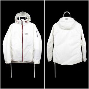 Woemns Helly Hansen Draft Collar Ski Snowboard Jacket Outdoor White Size M