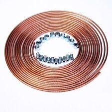 Bremsleitung Bremsrohr Kupfer 5m 4,75mm + 10x Verschraubung + 10x Überwurfmutter