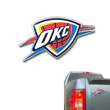 New NBA Oklahoma City Thunder Color Aluminum 3D Car Truck Emblem Sticker Decal
