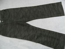 CECIL coole khaki gemusterte Jeans Gr. 32 TOP ST819