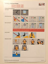 Swiss Airlines Airbus A220-100 A220-300 safety card new style Bombardier CS300