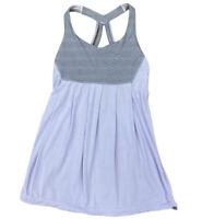 Lululemon 4 Light Purple Gray Stripe Yoga Dance Soft Fabric Loose Fitting Tank