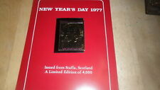 STAFFA SCOTLAND - NEW YEARS  DAY 1977 GOLD STAMP