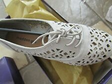 NEW MADDEN GIRL LOVA PERFORATED FLATS/ OXFORD SHOES WOMENS 7 FREE SHIP