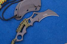 Lot de 2 Couteau Karambit Mtech Fixed Blade Acier 440 Manche Paracorde MT2020T