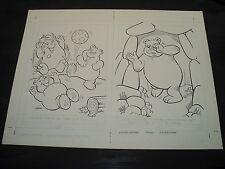 Snugglebumm Coloring Book Original Artwork RARE! Stan Goldberg! ART#0567