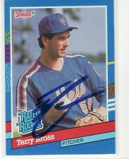 AUCTION TERRY BROSS NEW YORK METS  AUTOGRAPHED CARD
