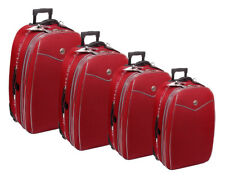 Reisekoffer, Koffer, Trolly, Set, Brilliant,  mit Dehnfalte,  4tlg. Farbe, rot