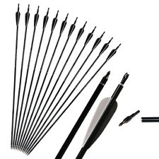 12x Archery Arrows Aluminum SP550 Hunting 31'' For Compound Recurve Bow