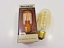 Bulbrite T14 Bulb Nostalgic Thread Filament 40W Medium Base