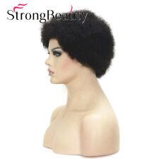 Short Wig 100% Real Human Hair for Black Men African American Wig Afro Black Wig