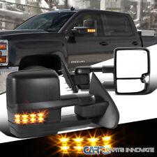 14-18 Silverado Sierra Power Heated Extending Towing Mirrors+Smoke LED Signal