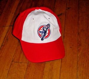 Minor League Baseball South Bend Cubs Clean Up Adjustable Hat Red/white Nice!