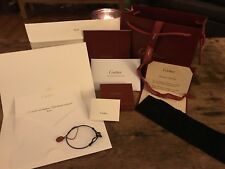 Cartier Love Charity Cord Bracelet 18K White Gold / Black Ceramic w/Cert