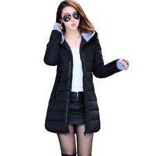 Winter Women Down Cotton Parka Long Fur Collar Hooded Coat Jacket Outerwear~