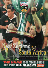 NEW ZEALAND v SOUTH AFRICA RUGBY PROGRAMME 9th  August 1997