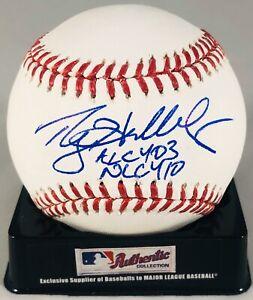 ROY HALLADAY SIGNED RAWLINGS MLB BASEBALL BLUE JAYS PHILLIES 2X CY YOUNG HOF+JSA