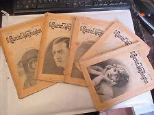 """Marcel Allain """"Le Courrier de Washington"""" Complet 10 numéros Romans Cinéma 1917"""