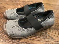 Keen Women's Sienna Shoes  7  Gray Black Mary Janes