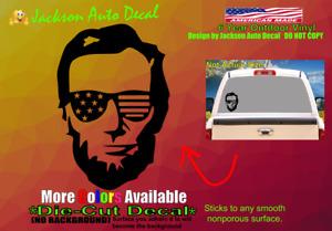 Lincoln Patriotic USA Rights Gun Freedom Car Window Vinyl Decal Bumper Sticker