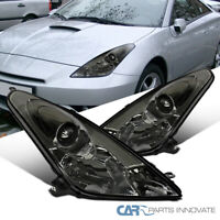 For 00-05 Toyota Celica Smoke Projector Headlights Lamps Replacement Left+Right