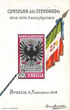 C6205) CAVALLERIA, BRESCIA 1909, CONSEGNA STENDARDO AI CAVALLEGGERI D'AQUILA.