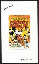 """New listing Walt Disney Mickey Mouse """"Mickey's Nightmare"""" Phone Card Sealed Mint Scarce Bell"""
