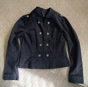 White House Black Market Black  Military Jacket Size 10