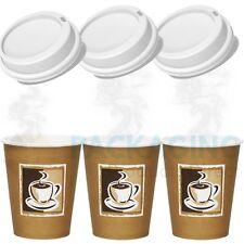 More details for disposable paper coffee/tea cups & sip lids(8oz,10oz,12oz,16oz)catering-takeaway