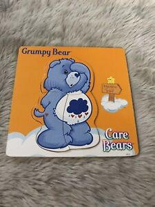 Vintage Care Bare Multicolored Wood Inlay 3 Piece Puzzle Grumpy Bear