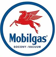 MOBIL OIL AND GAS 12 INCH TIN SIGN ROUND PUMP GLOBE WALL ART POSTER