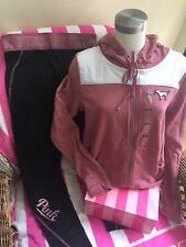 NWT Victoria's Secret Pink Ultimate Legging Large Begonia Full Zip Hoodie Medium
