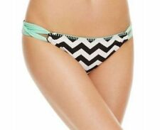 Black/Mint X-LARGE Hula Honey CHEVRON HIPSTER Swimsuit BIKINI BOTTOM New!