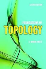 USED (GD) Foundations Of Topology (Jones and Bartlett Publishers Series in Mathe