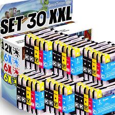 30x Druckerpatronen für Brother LC980 LC1100 DCP145C DCP195 C MFC5890CN MFC490CW