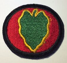 Original WWII U.S. Army 24th Infantry Division White Back Patch Cut Edge No Glow