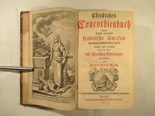 Christliches Concordienbuch 1750 Kirchenbuch Johann Georg Walch Verlag Jena