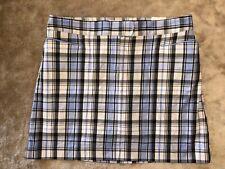 NWT! Izod Golf Classix Skirt Women's Size 10 Blue Plaid Stretch