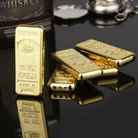 Ultra Thin Gold Bar Butane Lighter Flip Windproof Cigar Cigarette USA Seller