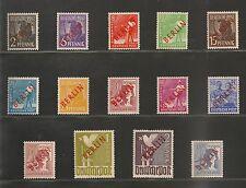 Germany Berlin #9N21-9N34 VF MNH & MLH - 1948 Surcharged - SCV $905.20