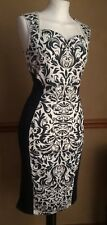 Slimming Optical Illusion Occasion Dress 10 Party Bodycon Stretch Wiggle Pinup