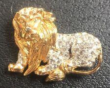 Vintage Lion Brooch Pin or Tie Tac