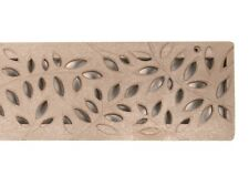 3 Ft. NDS 554S Mini Botanical Channel Deck Drain Sand Tan Grate