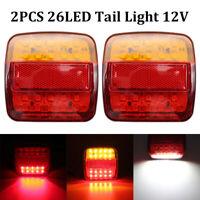 2x 26 LED Rear Tail Light Indicator Trailer Lights Caravan Van Truck Lorry 12V