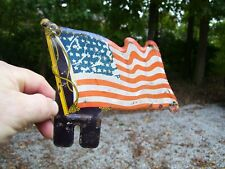 1940s Antique Auto Flag USA license Plate topper Vintage Chevy Ford Hot rat Rod