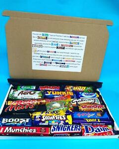 19 Piece Large Chocolate Poem Teacher Thank You Gift Box Sweets Appreciation